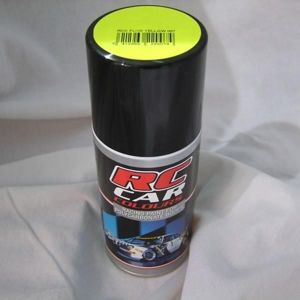Rc car peinture lexan jaune fluo 1007 rc car colours 13001 113 lc modelisme votre for Peinture jaune fluo